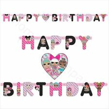 LOL Surprise Banner Happy Birthday Party Decorations Supplies Bunting