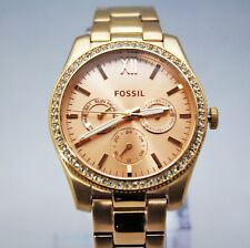 New Fossil ES4315 Scarlette Rose Gold Chronograph Stainless Steel Women Watch