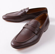 NIB $650 CANALI 1934 Brown Soft Calf Leather Penny Loafer US 8.5 D Shoes