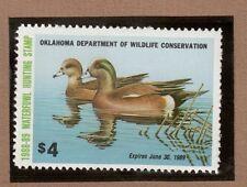 Ok9 - Oklahoma State Duck Stamp. Mnh. Og.