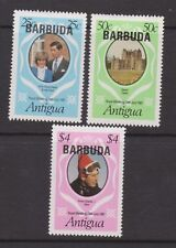 1981 Royal Wedding Charles & Diana MNH Stamps Stamp Set Opt Barbuda Pink $4