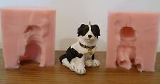 3D NEW 6cm BORDER COLLIE SILICONE MOULD FOR CAKE TOPPERS, CHOCOLATE, CLAY