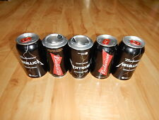 """1 EMPTY METALLICA BUDWEISER BEER """"LIMITED EDITION"""" Bottom opened CAN FROM QUEBEC"""