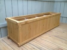Large Wooden Rectangle Garden Planter - 4 Sections - UK Hand Made - High Quality