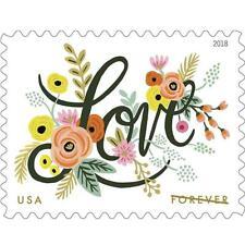 NEW 100 Forever Stamps Love Flourishes Wedding Engagement Celebration Valentines