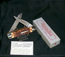 "Remington R4356 Bullet Knife ""Bush Pilot 1993"" Inscribed Blade Packaging,Papers"