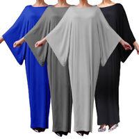Abaya Dubai Jilbab Women Muslim Maxi Long Dress Modest Islam Kaftan Farasha Robe