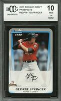 2011 bowman draft prospects #bdpp81 GEORGE SPRINGER astros rookie BGS BCCG 10