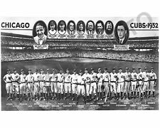 1932 CHICAGO CUBS NL BASEBALL CHAMPIONS WORLD SERIES 8x10 TEAM PHOTO
