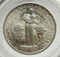1937 ROANOKE Sr Walter Raleign COMMEMORATIVE Silver Half Dollar Coin PCGS i76452