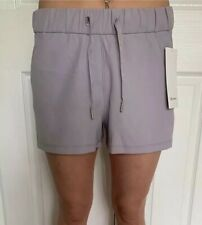 """Lululemon Size 6 On The Fly Short 2.5"""" Woven Gray SLRS Speed Tracker Pace NWT"""
