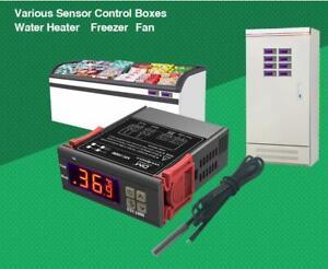 TERMOSTATO DIGITALE REGOLATORE DI TEMPERATURA CON SONDA -50/110℃ 120v-220v LCD