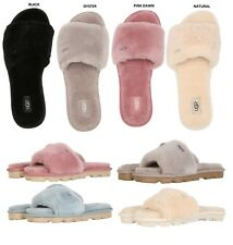 UGG Soft Cozette Slide Slippers Women's Cozy Shoes Black Oyster Pink Natural