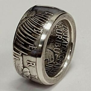 1928 PEACE DOLLAR Statement Historic Ring Handmade Stainless Steel Size 8-13