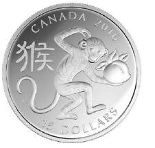 2016 $15 Canada - Lunar Year of the Monkey 99.99% - 1 oz Silver Proof Coin - RCM