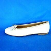 Gallucci Damen Schuhe Ballerinas Gr 37 38 Beige Leder Wildleder Flach Np 139 Neu