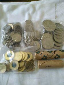 2020 Coin Set Bags/Rolls 5c, 10c, 20c, 50c,$1, $2 Australian Unc cent dollar
