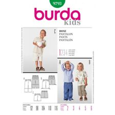 Burda Kids Boys Trouser Trio Fabric Sewing Pattern 9793