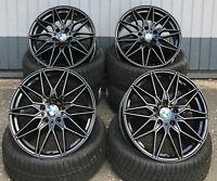 18 Zoll Damina DM02 Felgen 5x120 schwarz für BMW 3er E36 E46 F30 F31 E90 E91