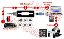 USB Digital Audio Recorder For Converting Vinyl Cassette To CD/MP3 Audio Encoder