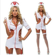 1Pcs Set Sexy Lingerie Nurse Costume Adult Women Halloween Outfit Fancy Dress