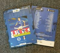 Brighton & Hove Albion v Fulham PREMIER LEAGUE Programme 27/1/21 READY TO POST!!