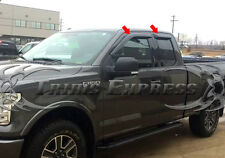 15-17 Ford F-150 Super/Extended Cab Smoke Window Deflector Visor Vent Tape-On