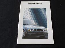 1991 1992 BMW 525i 535i M5 Sales Brochure E34 5 Series & M-5 US Catalog 525 535