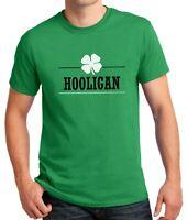Hooligan Shamrock #2 Funny Saint Patrick's Day Shirt Green Clover Irish T-Shirt