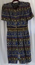 Positive Attitute Rayon 14P Dress Short Sleeve Multi Color Wear to Work