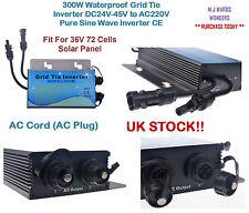 Inversor de cuadrículas de 300W a prueba de agua DC24V-45V a AC220V inversor de onda senoidal pura CE