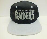 Los Angeles Raiders NFL Snapback Hat Script 90's Vintage Cap RARE