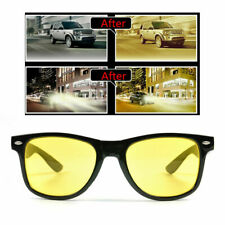 Anti Glare Yellow Tinted HD Night Vision Driving Glasses Classic Goggles Eyewear