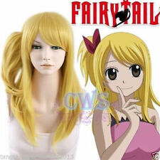 Fairy Tail Lucy Long Blode Cosplay Hair full Wigs + Wig Ponytail