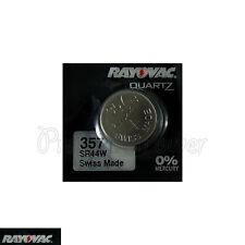1 x Rayovac 357 Silver Oxide battery 1.55V SR44W D357 303 V357 Watch 0% Mercury