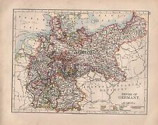 1897 Victorien Carte ~ Empire de Allemagne Montrant Minor États