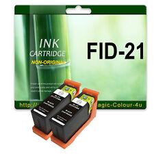 2 Black 21 Ink Cartridges for DELL V313 P513w V313w V515w P713w P513w V715w