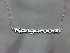 "Nth Melbourne "" Kangaroos "" Name Necklace Sterling Silver 45cm chain"