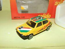 FIAT RITMO N°2 Jaune SOLIDO