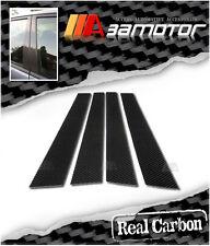 Real Carbon Fiber Door Pillar Panel Covers for 2001-2004 Honda Civic Sedan 4Dr