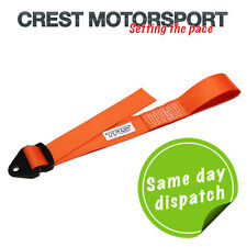 TRS Adjustable Tow Eye Strap/Loop ORANGE (MSA Compliant) Race/Rally/Competition