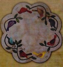 PATTERN - Songbirds Table Mat - wool applique PATTERN - Primitive Gatherings