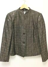 MAX MARA Women's Wool Blend 2-Button Reflective Kimono Jacket - Brown - US 12