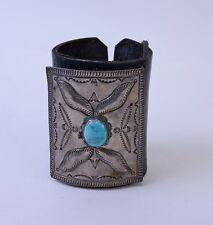 "Vintage Navajo Keto - Bow Guard - Blue Gem Turquoise 3 5/8"" x 3 1/8"""