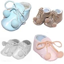 SPANISH BABY UNISEX POMPOM BOOTIES