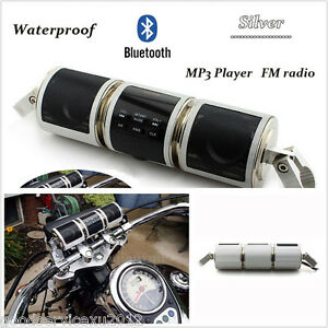 12V Motorcycle Wireless Bluetooth Audio Radio Sound System Stereo Speaker TF/AUX