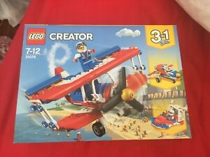 Lego Creator - Daredevil Stunt Plane 3 In 1 31076 Retired Set New Quick Post