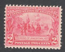 U.S. STAMP  #329 --- 2c JAMESTOWN EXPOSITION -- 1907 -- MINT
