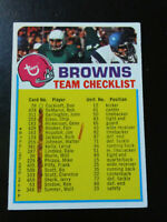 Browns Checklist-1973 Topps Football-ex/mint/6-is marked