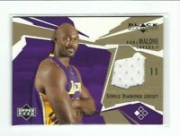 2002-03 Upper Deck Black Diamond Karl Malone Jersey Card, SP #/100, Lakers!
